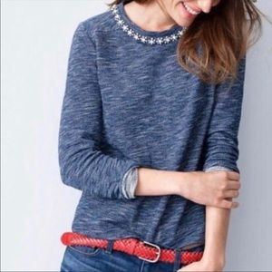 J. Crew jeweled Sweatshirt sweater top Sz medium